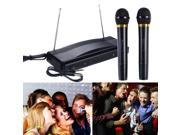 Professional Wireless Microphone System Dual Handheld w/ 2 Mic Receiver