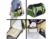 Large Pet Carrier OxFord Soft Sided Cat/Dog Comfort Travel Tote Shoulder Bag Green