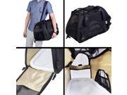 Large Pet Carrier OxFord Soft Sided Cat/Dog Comfort Travel Tote Shoulder Bag Black