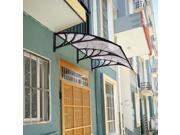 80 x 40 Window Awning Door Canopy Outdoor Polycarbonate Front Door 3 Color