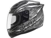 G-max Gm69 Full Face Mayhem Helmet Matte Black/silver/white X