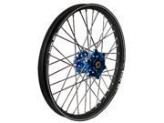 Talon Engineering Wheel 2.15x19 Dk.blu Hub Black Rim 56 3117db