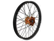 Talon Engineering Wheel 1.60x12 Orange Hub Black Rim 56 3161ob