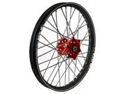 Talon Engineering Wheel 1.40x19 Red Hub Black Rim 56 3002rb