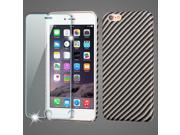 Mod Leather Graphic Case and Tempered Glass Screen Protector for iPhone 6 Plus / 6S Plus - Carbon Fiber 9SIAAJW5TU8668