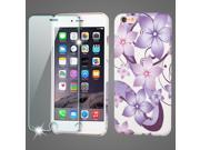 Mod Leather Graphic Case and Tempered Glass Screen Protector for iPhone 6 Plus / 6S Plus - Purple Hibiscus Flower 9SIAAJW5TU8292