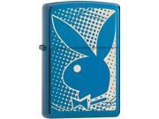 Zippo PlayBoy Bunny, Sapphire, Laser Engrave Windproof Pocket Lighter 29064