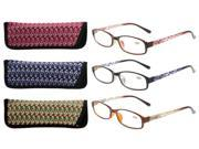 Eyekepper Readers 3 Pack of Womens Reading Glasses With Beautiful Pattern And Soft Case For Ladies +2.00 9SIAAN25VJ2192