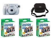Fujifilm instax 210 Instant Camera & Nifty Black Case For Wide Cameras and Fujifilm Instax Mini Instant 60 Films