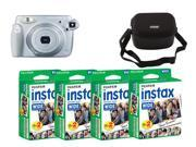 Fujifilm instax 210 Instant Camera & Nifty Black Case For Wide Cameras and Fujifilm Instax Mini Instant 80 Films