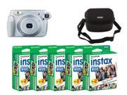 Fujifilm instax 210 Instant Camera & Nifty Black Case For Wide Cameras and Fujifilm Instax Mini Instant 100 Films
