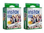 Fujifilm instax Wide Instant Film (2 x Twin Packs)  (40 Films)