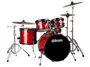 Journeyman Gen.2 5 Piece Player Drum Kit Red Sparkle