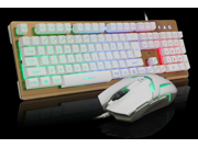 LANGTU Colorful multicolor Marquee Wired Waterproof Gaming Keyboard, Mechanical-Similar Typing/Gaming Experience 104-key Gaming Keyboard/mouse Set.