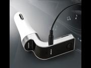 G7 FM Transmitter,DLAND Wireless Bluetooth FM Transmitter FM Modulator Radio Car Mp3 Player Handsfree Car Kit with 2-Port USB Charging, Music Control and Hands-Free Calling
