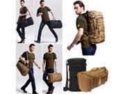 Military Tactical Rucksack Backpack Camping Hiking daypack shoulder Bag-Brown