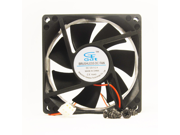 80mm 25mm New Case Fan 12V 37CFM PC CPU C0oling Ball Brg 4 Screws 2wire