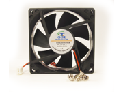 80mm 25mm New Case Fan 24V 33CFM PC Rack Cooling 2 wire Sleeve Bearing 8025