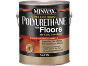 Minwax 13025 Oil-Based Super Fast-Drying Polyurethane, 1 gal Can, 600 - 700 sq-ft/gal, Clear