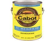 Cabot 6500 Solid Color Deck and Siding Stain, 1 gal, 400 - 500 sq-ft, Brown, Aliphatic Petroleum Distillates