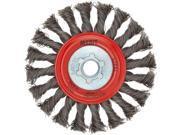 """Norton 69936653331 Wire Wheel- Twist Knot Fc 4""""""""x .020 X 5/8-11"""" 9SIAAU94VJ6305"""