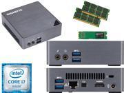 Gigabyte BRIX Ultra Compact Mini PC (Skylake) BSi7-6500 i7 120GB SSD, 4GB RAM, Assembled and Tested