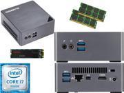 Gigabyte BRIX s Ultra Compact Mini PC (Skylake) BSi7H-6500 i7, 1TB M.2 SSD, 2TB HDD, 16GB RAM, Assembled and Tested