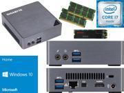 Gigabyte BRIX Ultra Compact Mini PC (Skylake) BSi7-6500 i7 1TB SSD, 8GB RAM, Windows 10 Home Installed & Configured - Windows USB Flash Media Included