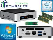 Intel NUC NUC6i5SYK Mini PC (Skylake) i5-6260U,500GB Samsung SSD, 8GB RAM Windows 7 Pro Installed & Configured