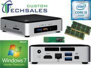 Intel NUC NUC6i5SYK Mini PC (Skylake) i5-6260U, 500GB Samsung SSD, 16GB RAM Windows 7 Home Installed & Configured