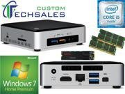 Intel NUC NUC6i5SYK Mini PC (Skylake) i5-6260U, 1TB SanDisk SSD, 16GB RAM Windows 7 Home Installed & Configured