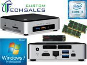 Intel NUC NUC6i5SYK Mini PC (Skylake) i5-6260U, 1TB SanDisk SSD, 32GB RAM Windows 7 Pro Installed & Configured