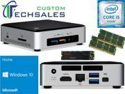 Intel NUC NUC6i5SYK Mini PC (Skylake) i5-6260U, 1TB SanDisk SSD, 16GB RAM Windows 10 Home Installed & Configured