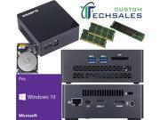 Gigabyte BRIX s Ultra Compact Mini PC (Skylake) BSi7HT-6500 i7 1TB M.2 SSD, 1TB HDD, 32GB RAM, Windows 10 Pro Installed