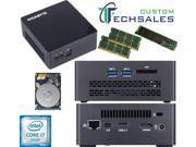 Gigabyte BRIX s Ultra Compact Mini PC (Skylake) BSi7HT-6500 i7 480GB SSD, 1TB 7200RPM HDD, 32GB RAM, Assembled and Tested