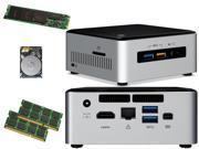 Intel NUC NUC6i5SYH Mini PC Skylake i5 6260U 250GB SSD 1TB Hard Drive 16GB RAM Assembled and Tested