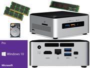 Intel NUC NUC6i5SYH Mini PC Skylake i5 6260U 250GB SSD 2TB Hard Drive 16GB RAM Windows 10 Pro Installed Configured