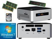 Intel NUC NUC6i5SYH Mini PC Skylake i5 6260U 240GB SSD 1TB Hard Drive 8GB RAM Windows 7 Pro Installed Configured
