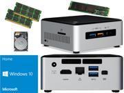 Intel NUC NUC6i5SYH Mini PC Skylake i5 6260U 120GB SSD 2TB Hard Drive 32GB RAM Windows 10 Home Installed Configured
