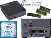 Gigabyte BRIX s Ultra Compact Mini PC Skylake GB BSi7A 6500 i7 256GB SSD 32GB RAM Assembled and Tested