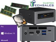 Intel NUC NUC7i3BNH Mini PC Kaby Lake i3 7100U 500GB M.2 SSD 2TB Hard Drive 16GB RAM Windows 10 Pro Installed Configured