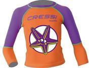 Cressi Purple Pequeno Girls Kids UV UPF+50 Sun Protective Starfish Rash Guard, XS