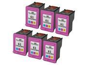 6PK Alternative Hewlett Packard HP 61 Color CH562WN ink cartridge