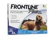 Frontline Plus for Dogs  23-44 Pounds Blue  3 Months