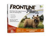 Frontline Plus for Dogs  0-22 Pounds Gold  3 Months