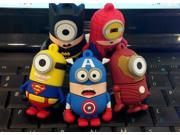Super hero America captain/Bat man/Iron man minion USB 2.0 Flash Drive/U Disk/Creativo Pendrive/Memory Stick/Disk Gift M23 9SIAAWT4J86661
