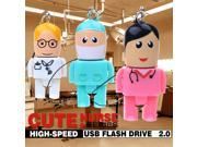 Cartoon USB Flash Drive Docutor Nurse Pen Drive USB Flash Gift Pendrive USB Stick Real Capacity Flash Drive USB Flash 9SIAAWS48P1169