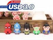 USB 3.0 League of Legends usb flash drive Captain Superman Iron Man Green Spider Batman cartoon 4GB 64GB YYS23 9SIAAWS48P1116