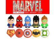 Special Gift USB Flash Drive America Captain Superman Spiderman Batman Pendrive 8GB 16GB 32GB Pen Drive USB Stick 9SIAC5C5AA6354