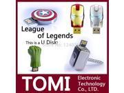 Garunk usb flash drive The Avengers Captain America Iron Man The Hulk Thor 4G 8G 16G 32G USB2.0 flash memory stick pen drive 9SIAC5C5WS4104